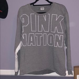 PINK Victoria's Secret pull over hoodie Gray